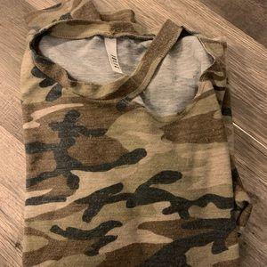 Camo Shirt with Slits